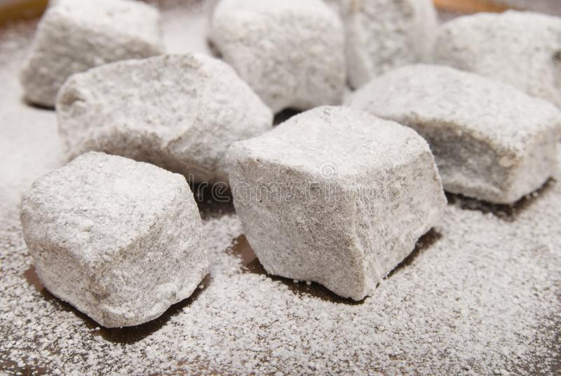 Turkish delight sweets stock photo