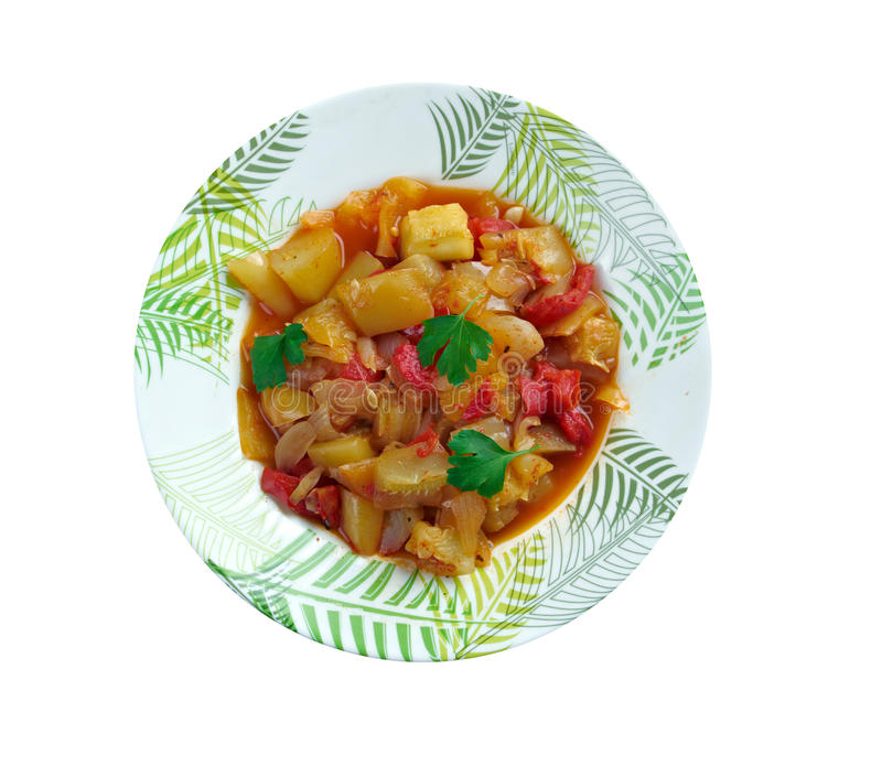 Turkish dish of vegetables stock images