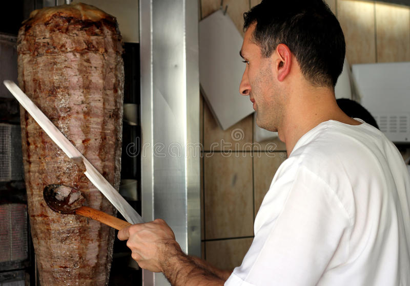 Download Turkish Doner Kebab stock photo. Image of lunch, orient - 14434372