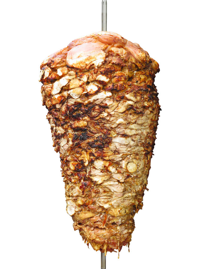 Free Turkish Donner Kebab Isolated Over White Stock Image - 79632071
