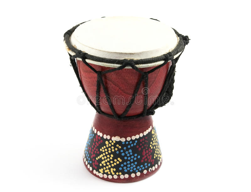 Turkish drum. Turkish traditional drum, isolated on the white stock images