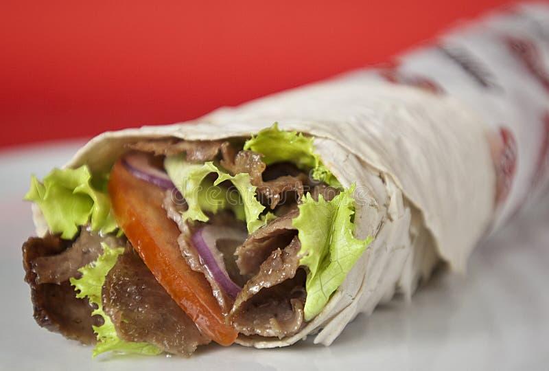 Download Turkish durum kebab stock photo. Image of pita, pepper - 19681298