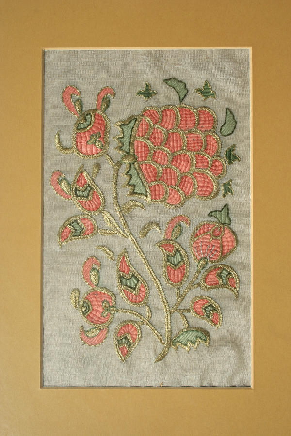 Turkish embroidery pattern stock photography