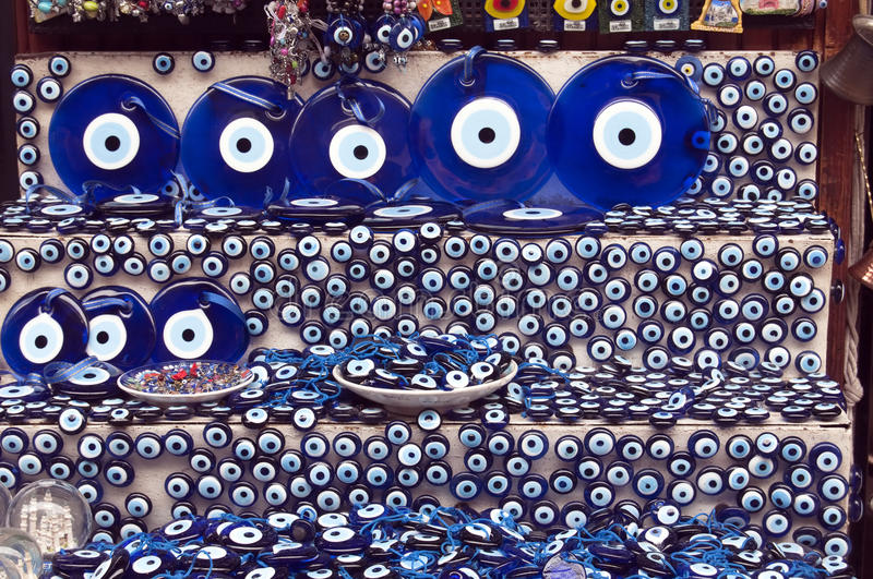 Turkish evil eye stock image
