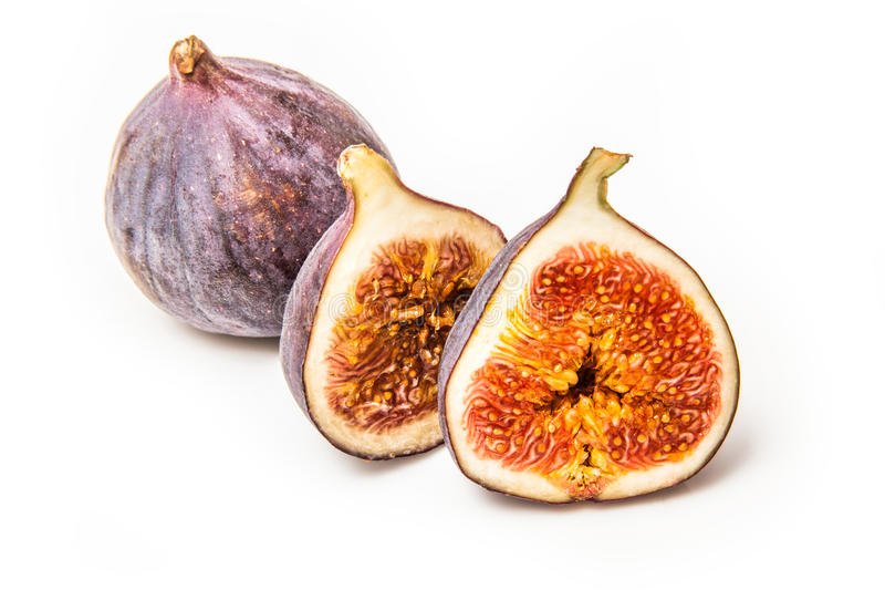Turkish figs isolated on a white studio background. stock photos