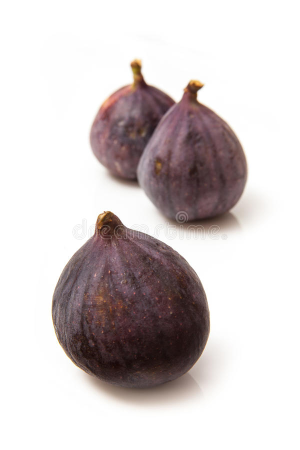 Turkish figs isolated on a white studio background. royalty free stock photography