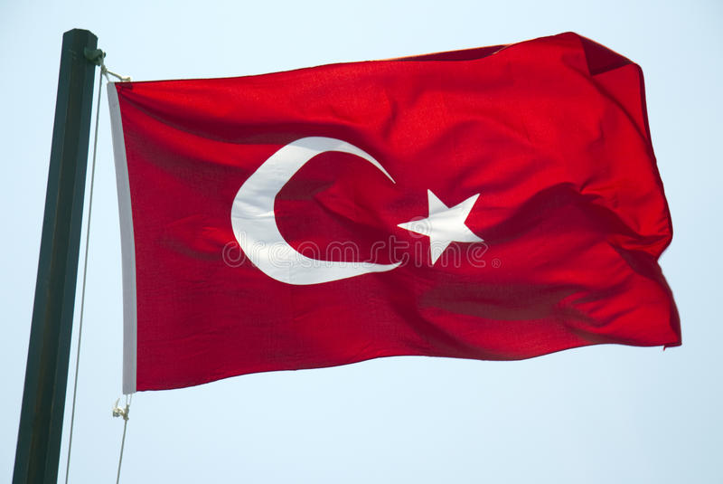 Download Turkish flag stock photo. Image of crescent, flag, asia - 21790788