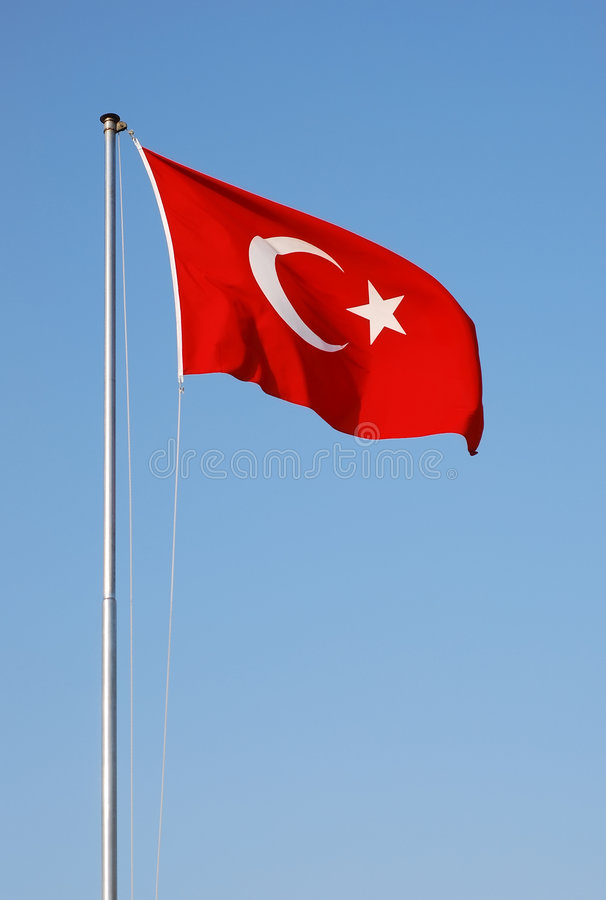 Download Turkish flag stock image. Image of stream, sign, white - 5886401