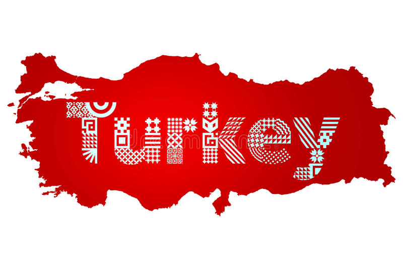 Turkish Flag Turkey Flag Design Stock Illustration