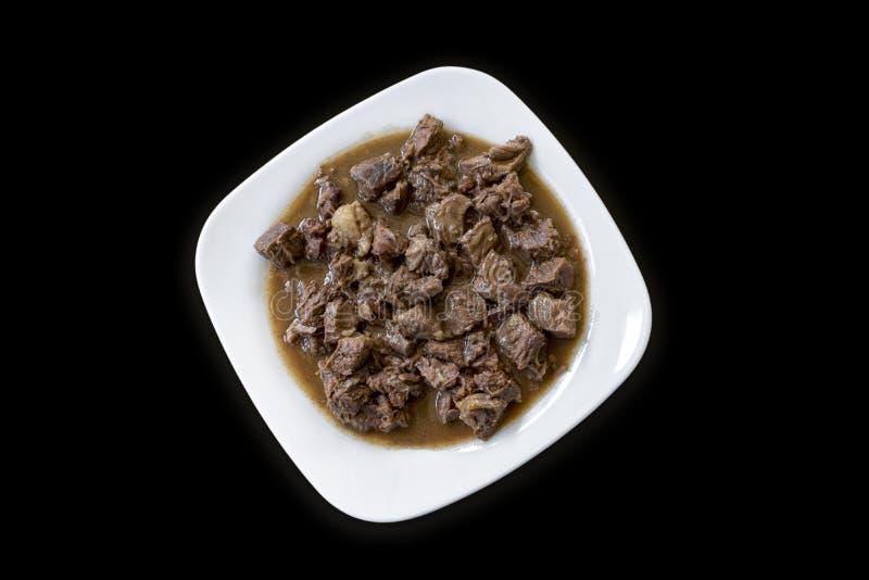Turkish Food Et Kavurma stock image