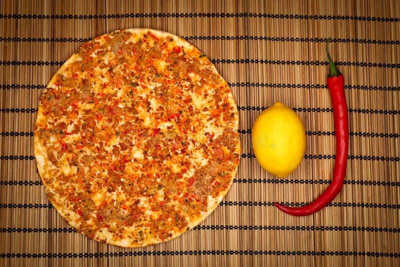 Turkish Food Lahmacun royalty free stock image