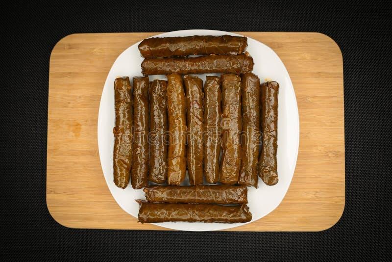 Turkish Food Sarma. Turkish Traditional Food Sarma on the Table stock images
