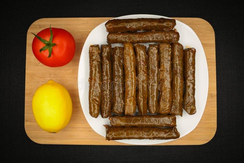 Turkish Food Sarma. Turkish Traditional Food Sarma on the Table stock photography