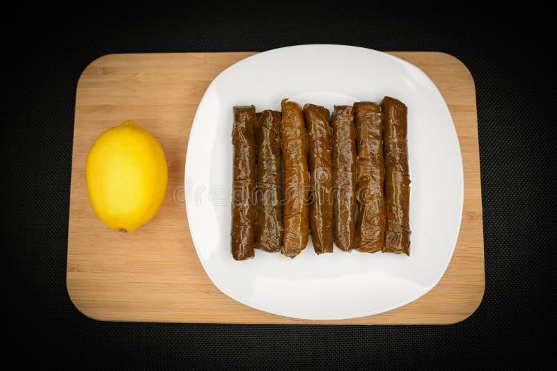 Turkish Food Sarma. Turkish Traditional Food Sarma on the Table stock photos