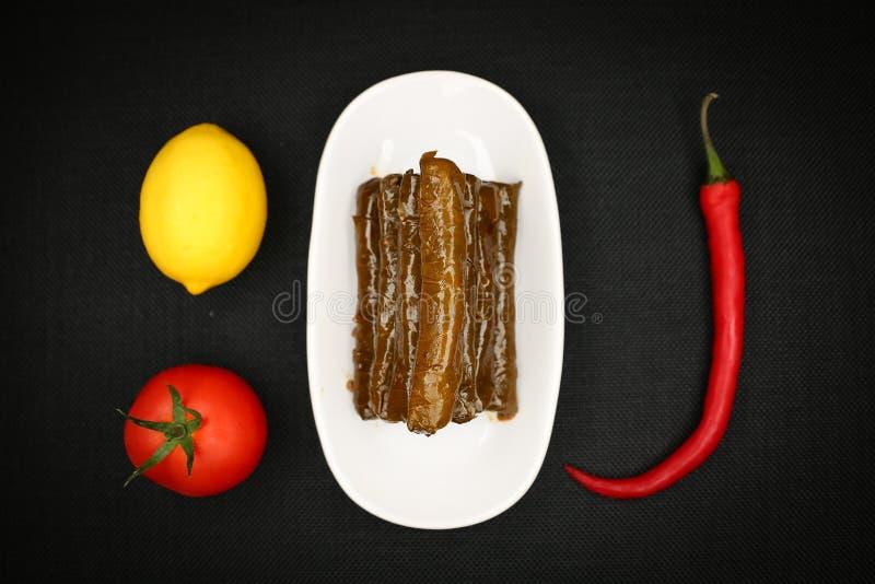 Turkish Food Sarma. Turkish Traditional Food Sarma on the Table royalty free stock image