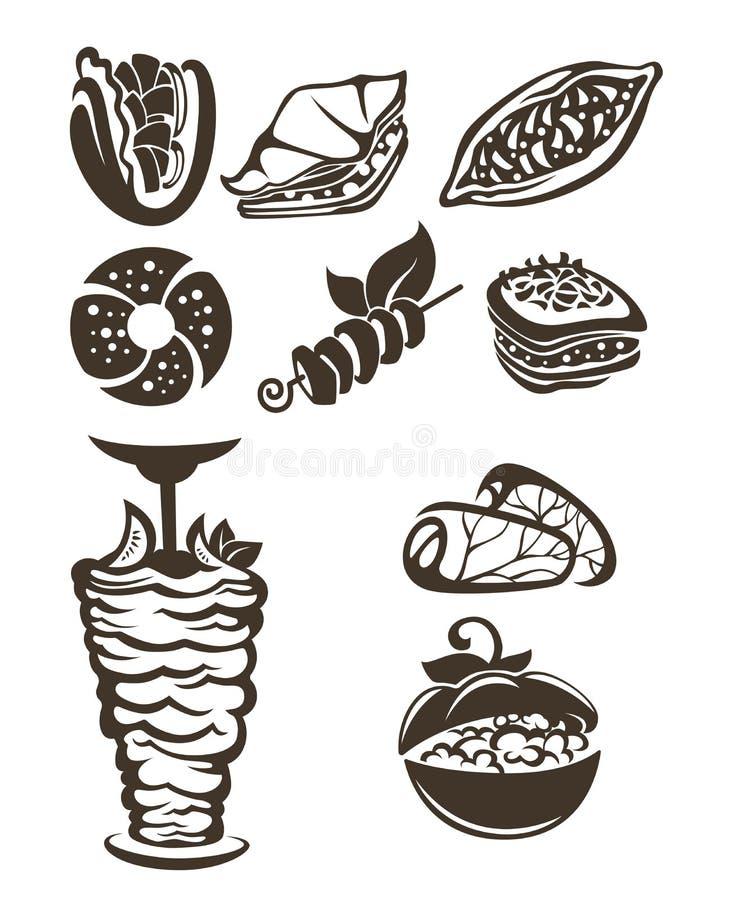 Turkish food stock illustration