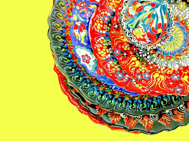 Turkish hand printed plate royalty free stock photo