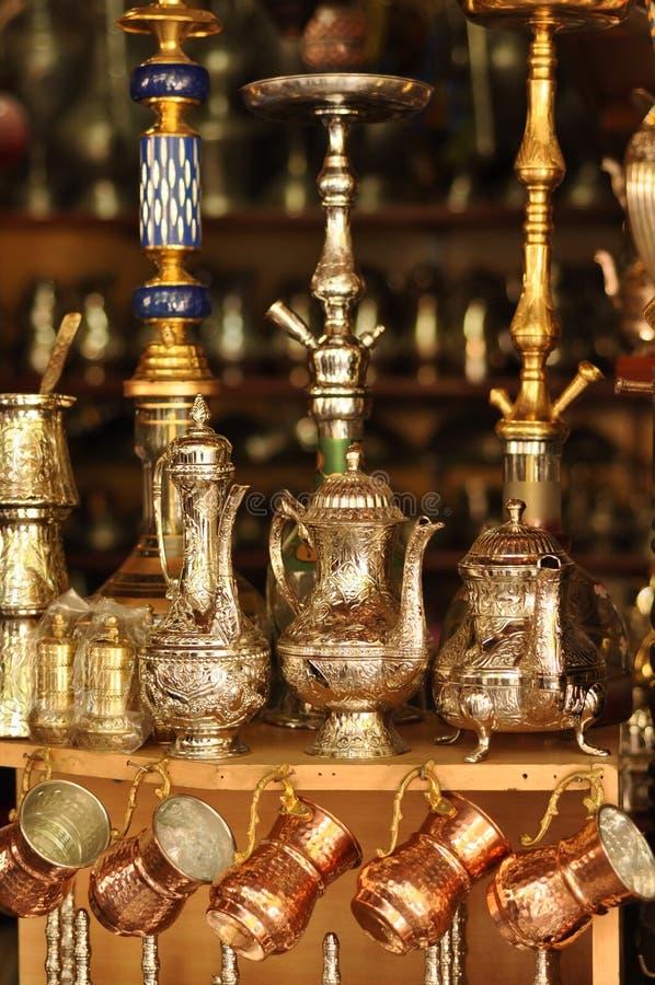 Turkish handicraft. Traditional decorative Turkish handicraft in shop stock images