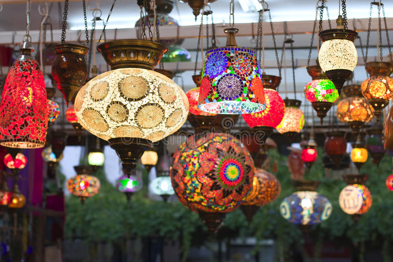 Turkish handmade lamps royalty free stock image
