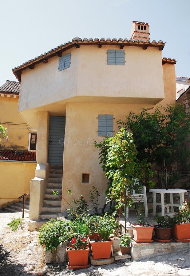 Turkish House in Bakar stock photo