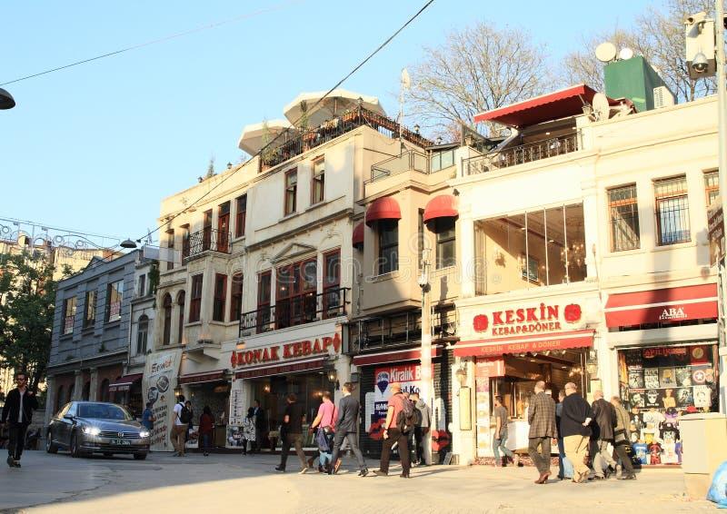 Turkish kebab restaurants royalty free stock photos