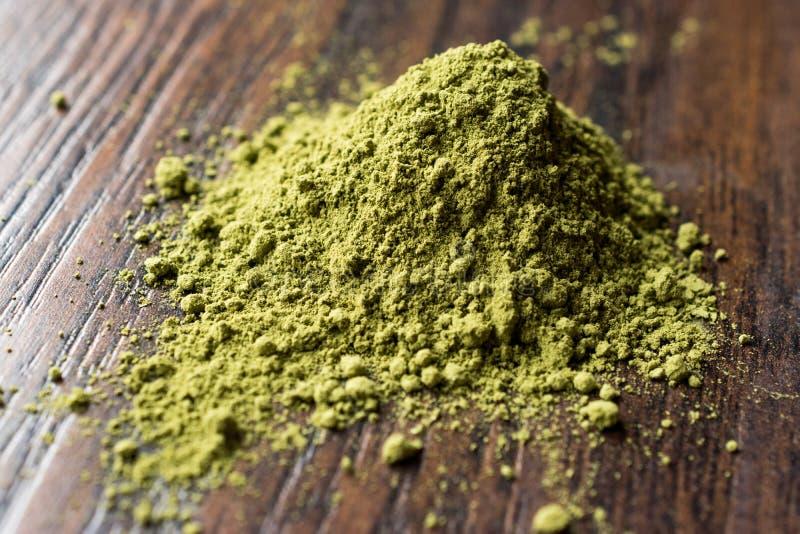 Turkish Kina Henna Powder or Matcha Tea. Organic Product royalty free stock photo