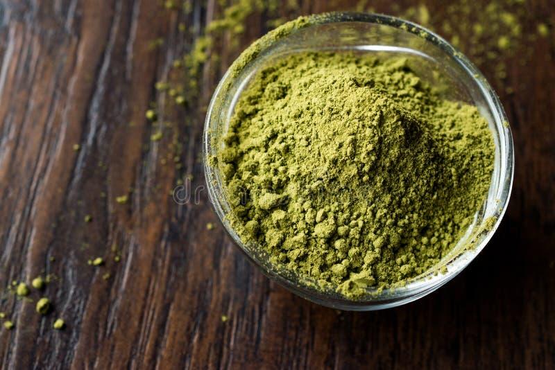 Turkish Kina Henna Powder or Matcha Tea. Organic Product royalty free stock image