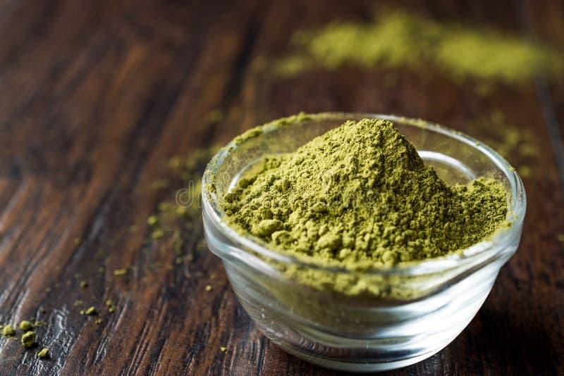 Turkish Kina Henna Powder or Matcha Tea. Organic Product stock photography