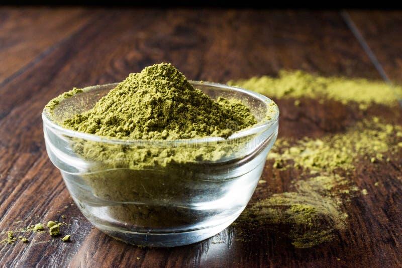 Turkish Kina Henna Powder or Matcha Tea. Organic Product royalty free stock images