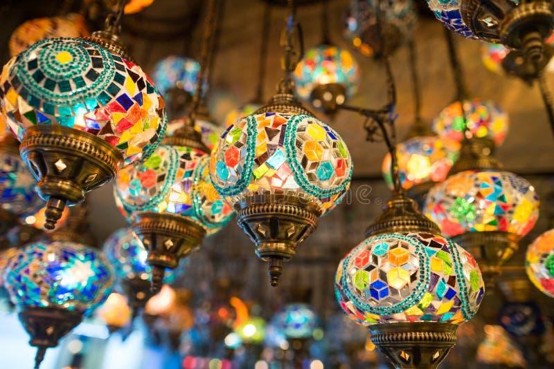 Download Turkish Lamps In Grand Bazaar Stock Photo   Image Of Decorative,  Gift: 46261998