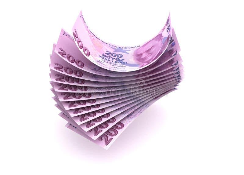 Download Turkish Lira stock illustration. Image of isolated, cash - 27414796