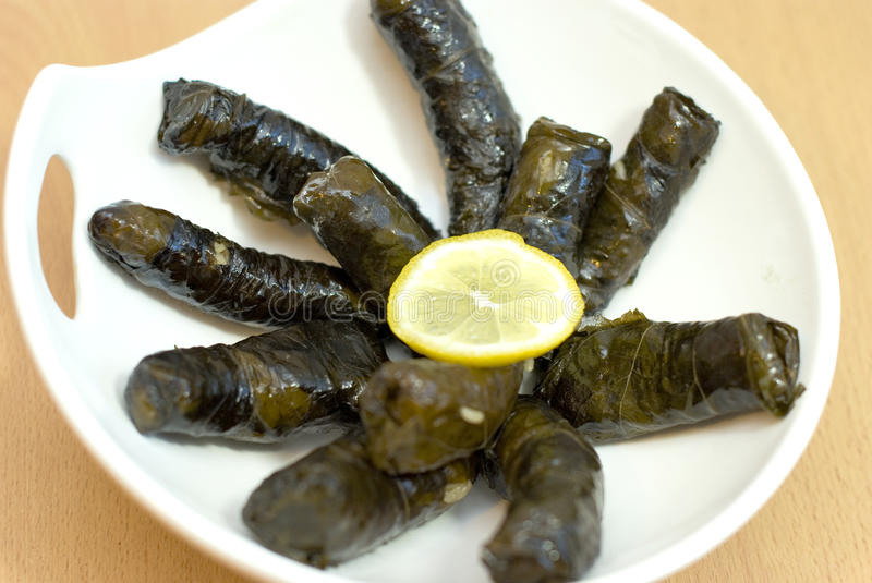 Download Turkish Meal, Stuffed Grape Leaves, Rice And Spice Stock Images - Image: 22302854