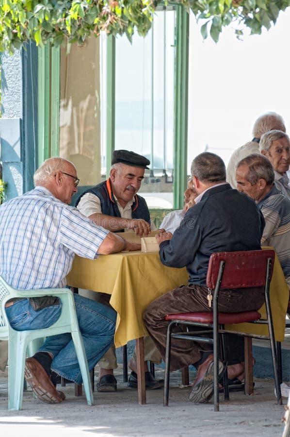 turkish men playing rummy stock photography