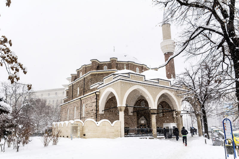 Download Turkish Mosque  In The Winter Sofia,Bulgaria Editorial Stock Image - Image: 83721189