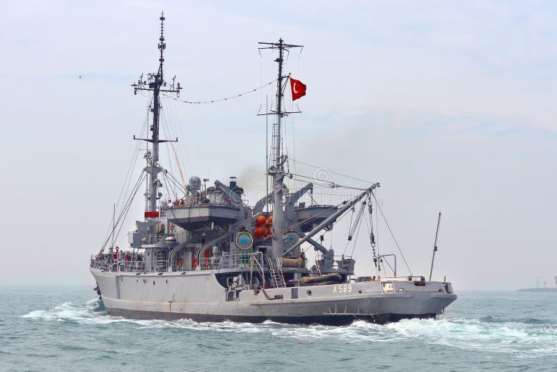 Turkish Navy TCG ISIN Editorial Stock Image