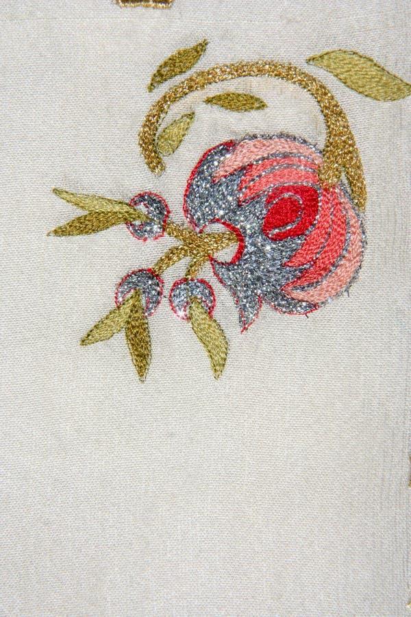 Turkish Needlework On Quilt Stock Photo