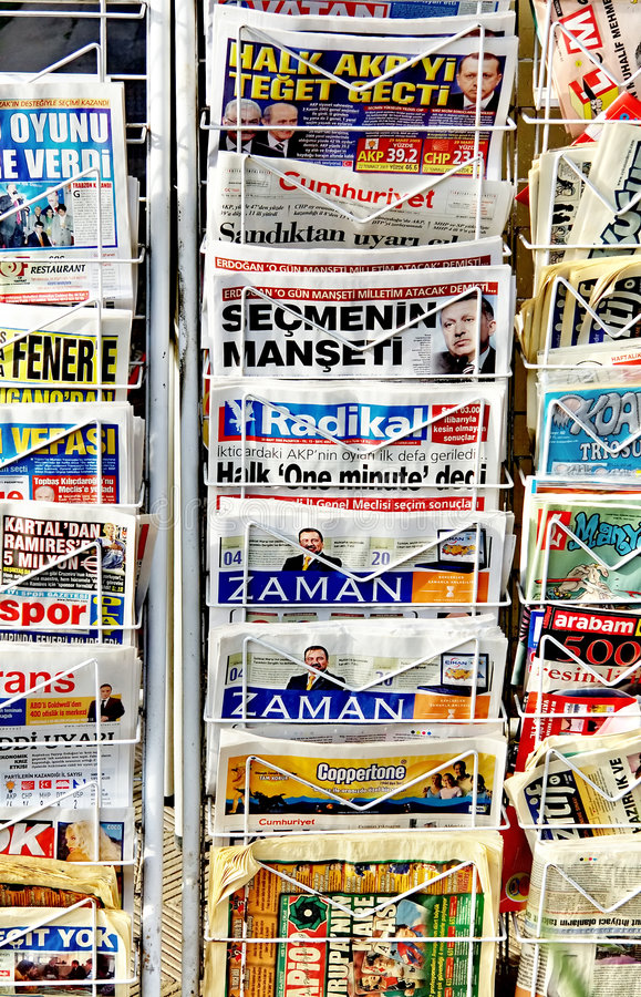Download Turkish Newspapers editorial stock image. Image of knowledge - 8775069