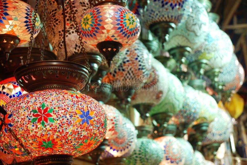 Download TURKISH ORIENTAL LAMP stock photo. Image of lantern, bazaar - 6606546