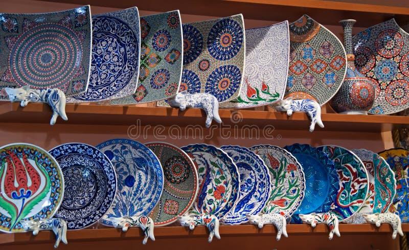 Turkish pottery stock photo