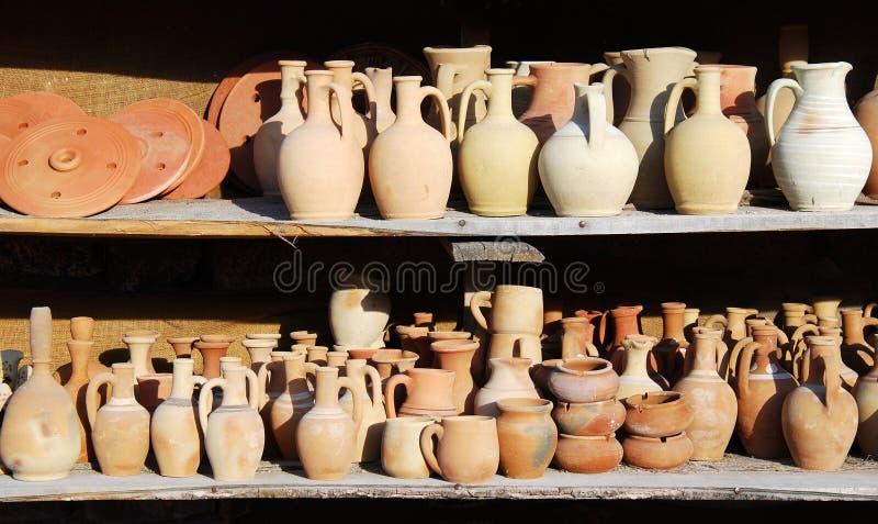 Turkish pottery (Cappadocia) royalty free stock image