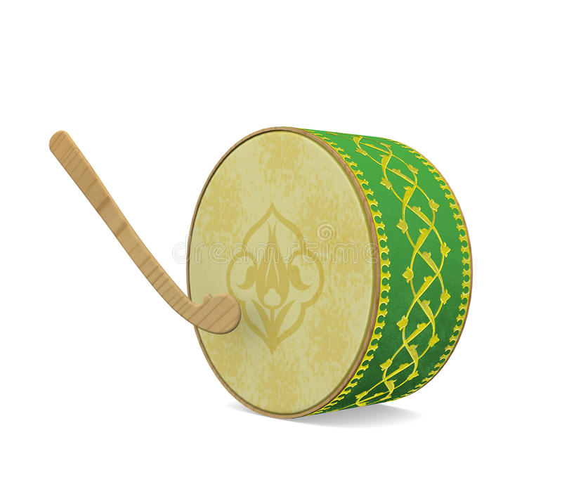 Turkish Ramadan Drum Green vector illustration