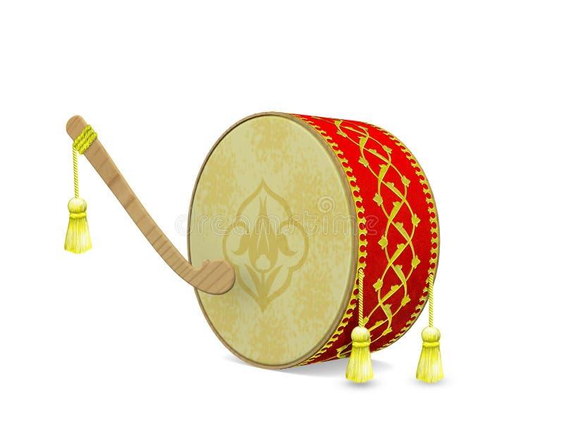 Turkish Ramadan Drum vector illustration