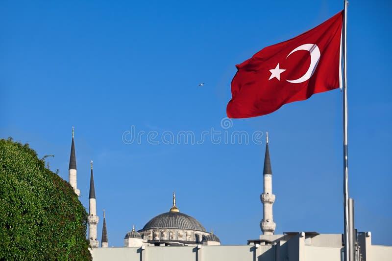 Turkish Red Flag Royalty Free Stock Photos