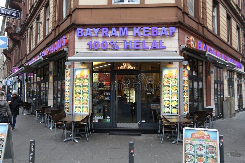 Turkish restaurant, Germany royalty free stock photo