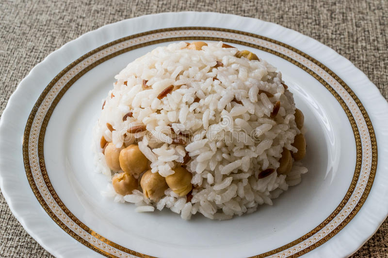 Download Turkish Rice With Chickpea Served With Salt And Pepper / Nohut Pilav. Stock Photo & Turkish Rice With Chickpea Served With Salt And Pepper / Nohut Pilav ...