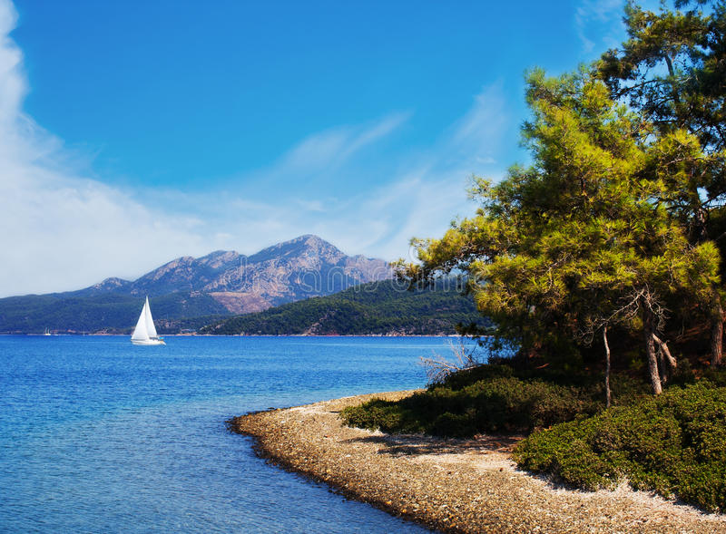 Turkish Seascape Royalty Free Stock Images