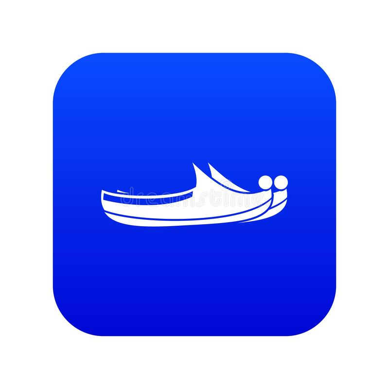 Turkish shoes icon digital blue vector illustration