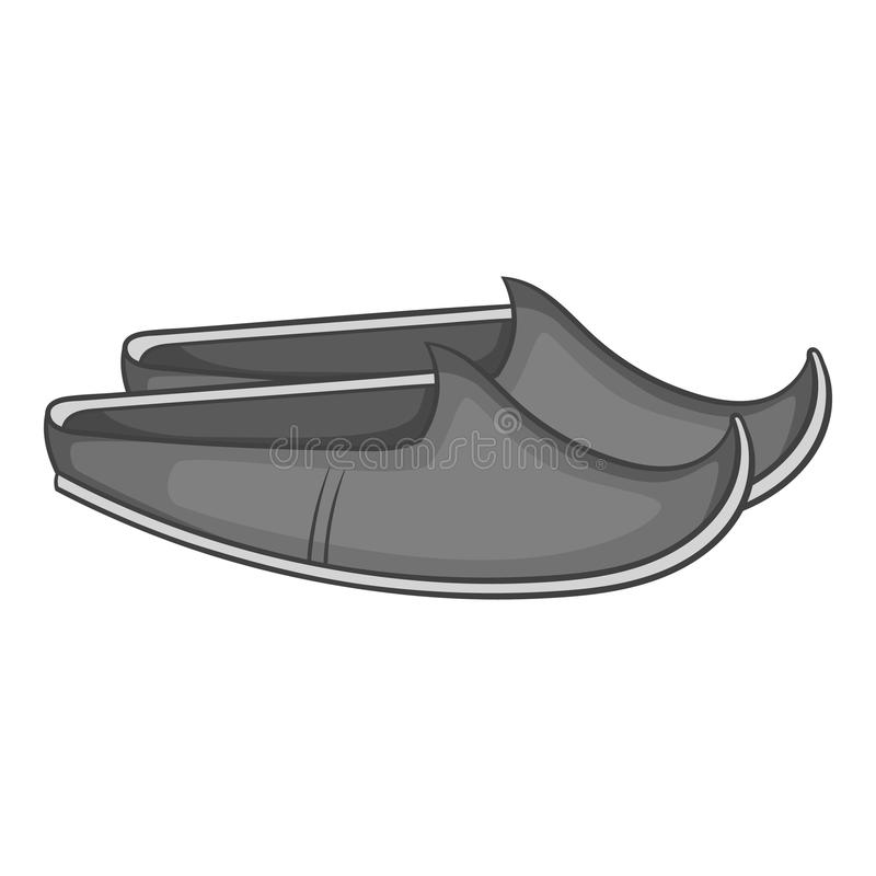 Turkish shoes icon, gray monochrome style vector illustration