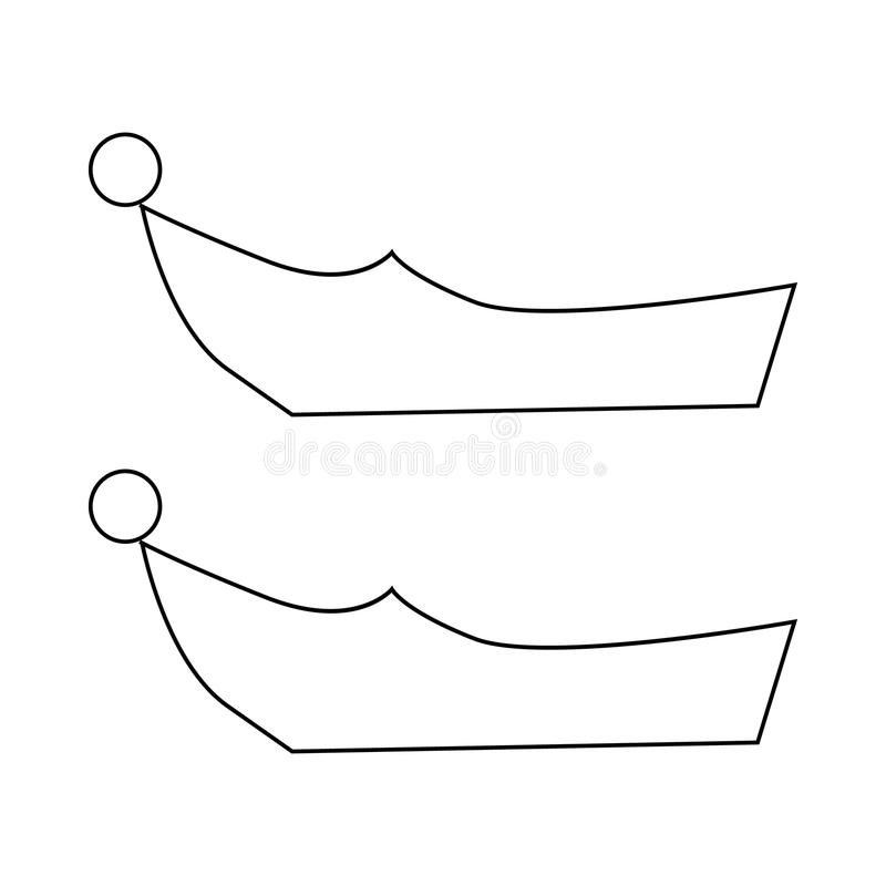 Turkish shoes icon, outline style royalty free illustration