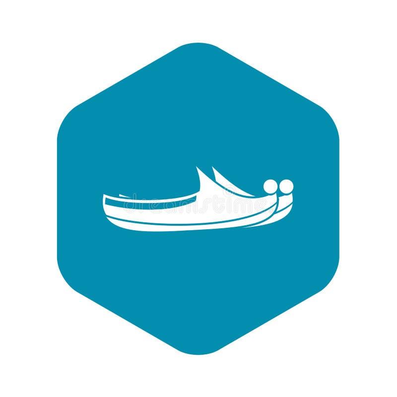 Turkish shoes icon, simple style stock illustration